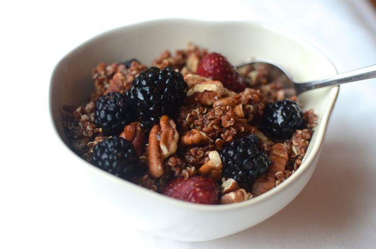 Warm Cinnamon Quinoa + Berry Bowl | Eats | Pinterest