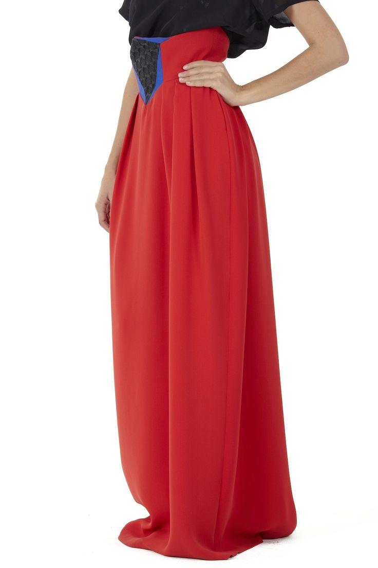 high waist maxi skirt cabelos