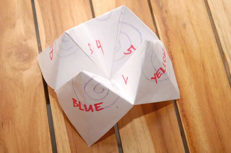 how to make a fortune teller wikihow