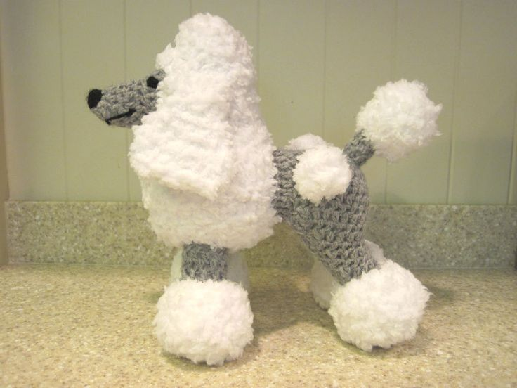 Crochet Patterns Stuffed Animals : Crocheted Poodle Stuffed Animal Pattern by ScareCrowOriginals, $2.50