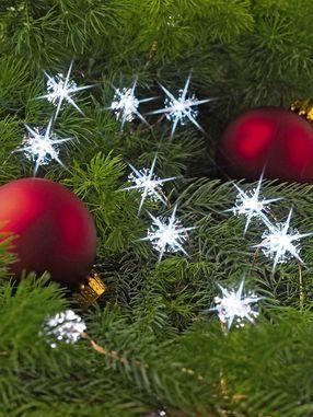 White Snowflake Micro Dot Lights