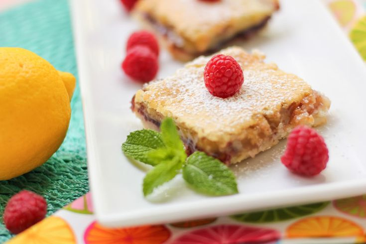 Lemon Raspberry Squares~ Willow Bird Baking via Baking and Cooking, A ...