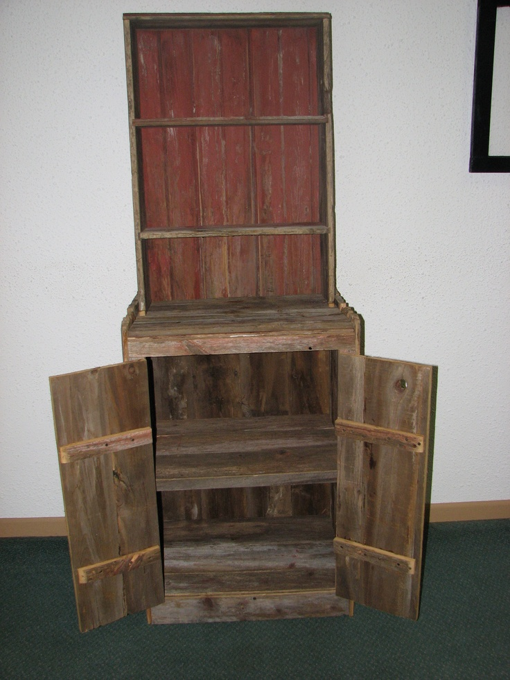 Barn wood cupboard crafts pinterest for Making craft projects from old barn wood