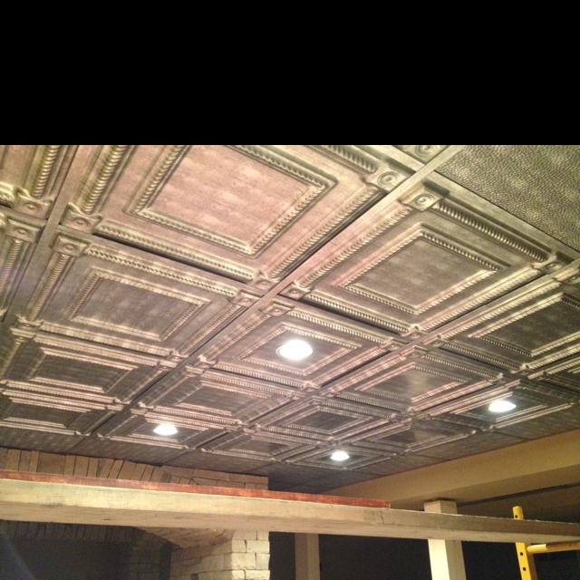 Tin Ceiling Tiles In Our Basement