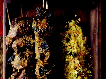 Lamb Kebabs with Charmoula Citrus Dressing