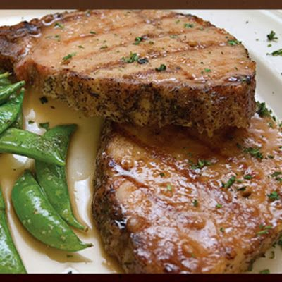 Baked Pork Chops ~ onion soup mix and cream of mushroom soup