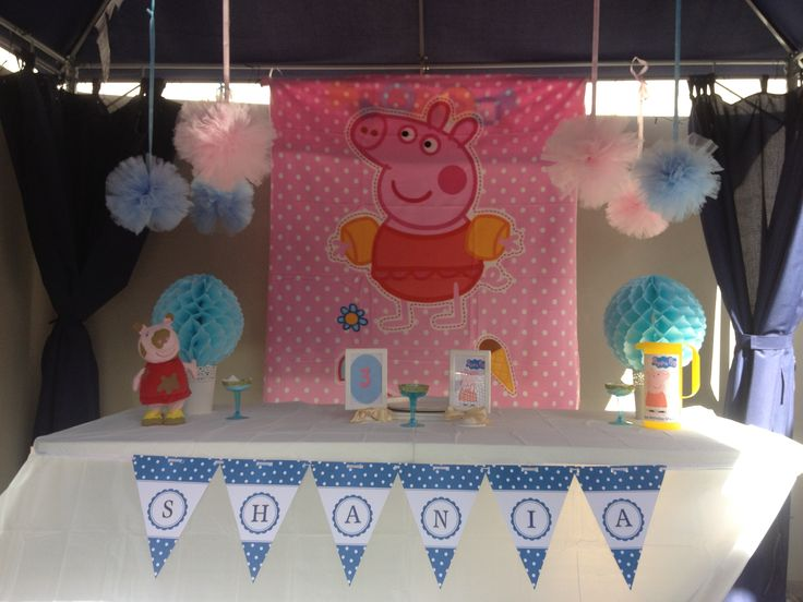 Peppa pig theme for 3 years old party | Party | Pinterest