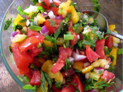 Fresh Salsa with Garden Tomatoes   Recipes   Pinterest