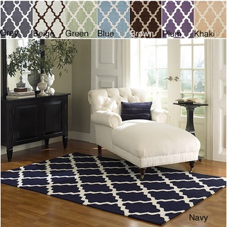 @Overstock - Invoke the feel and warmth of a country home with this stunning woolen hand-hooked rug. Meticulously made using a petit point stitches construction, make your favorite space feel right at home.http://www.overstock.com/Home-Garden/Hand-hooked-Alexa-Moroccan-Trellis-Wool-Rug-5-x-8/5777732/product.html?CID=214117 CAD              221.62