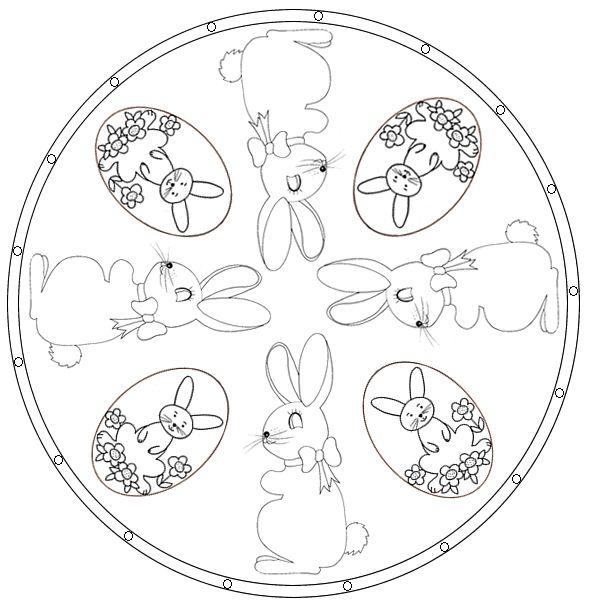 Mandala de Pâques lapin