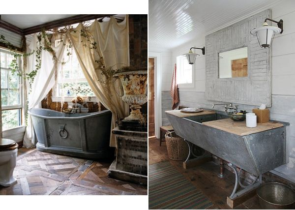 Rustic bathroom le bain pinterest for Small rustic bathroom designs