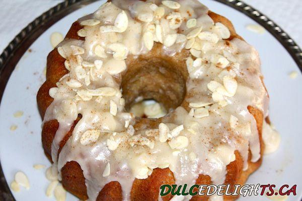 Celebrate Canada Day with an Almond Maple Bundt Cake.