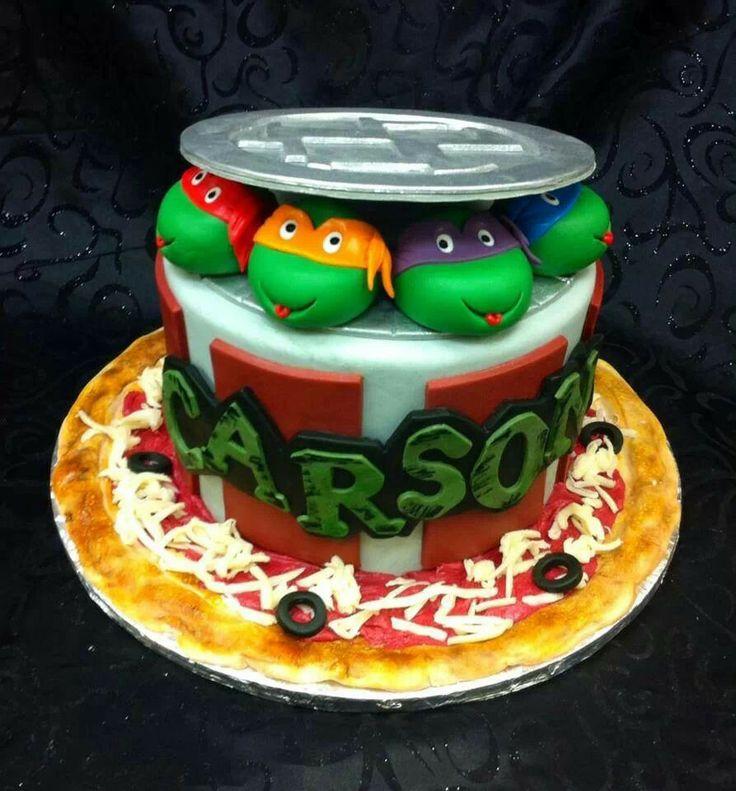 Ninja Turtles PIZZA Cake Let Them Eat Cake Pinterest