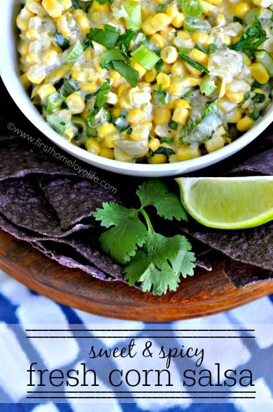 This sweet and spicy corn salsa is the perfect side at your next BBQ ...