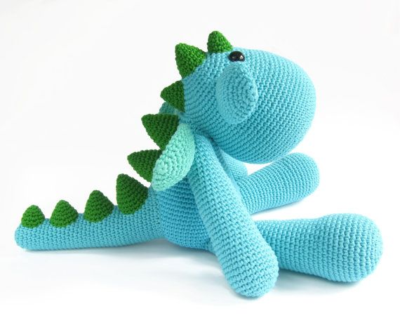 PATTERN: Dragon - Crocheted amigurumi dragon - Dinosaur ...