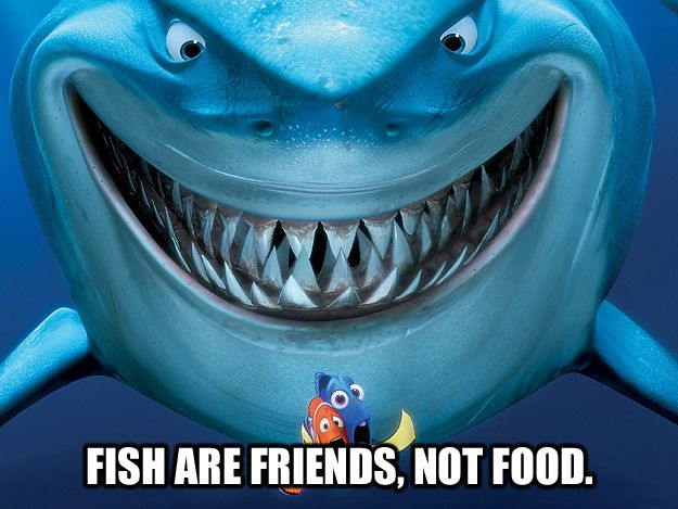 21 unforgettable movie one liners for Fish are friends not food