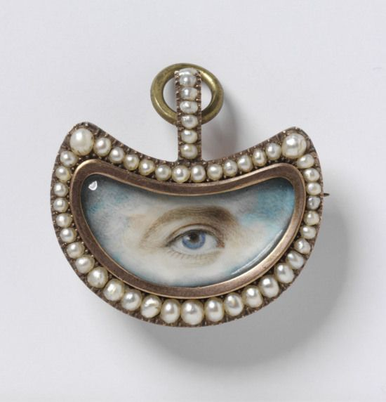 Lover's Eye Brooch circa 1800-1820.
