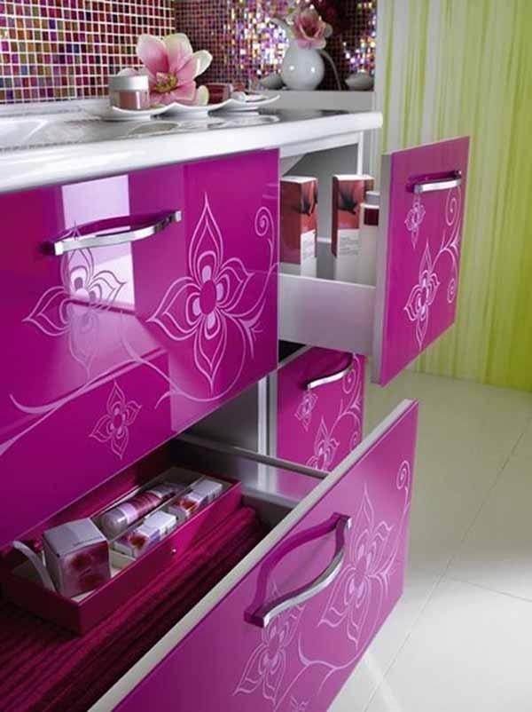 Patterned cabinets Kitchen