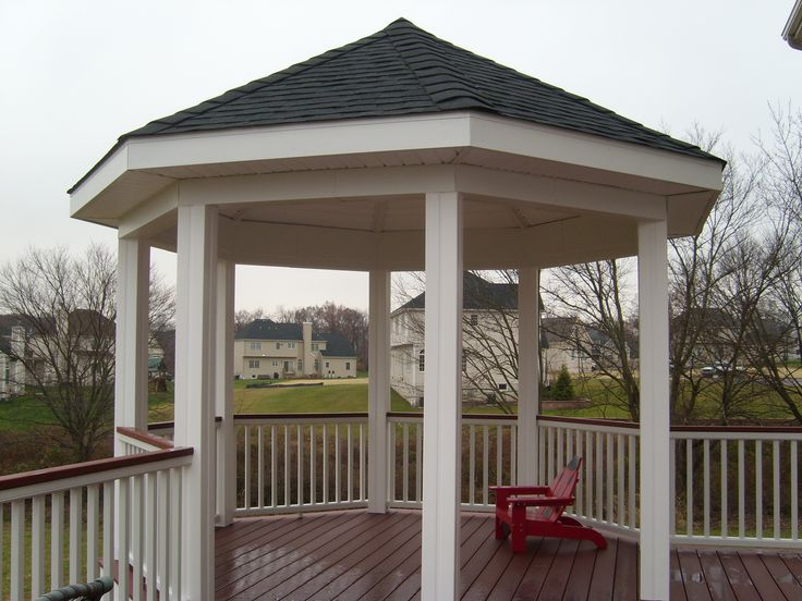 Decks with gazebos pictures for Deck with gazebo
