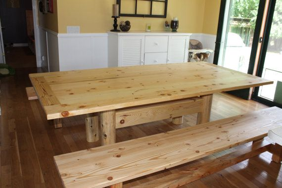handcrafted knotty pine dining room table by qualityhomeservices