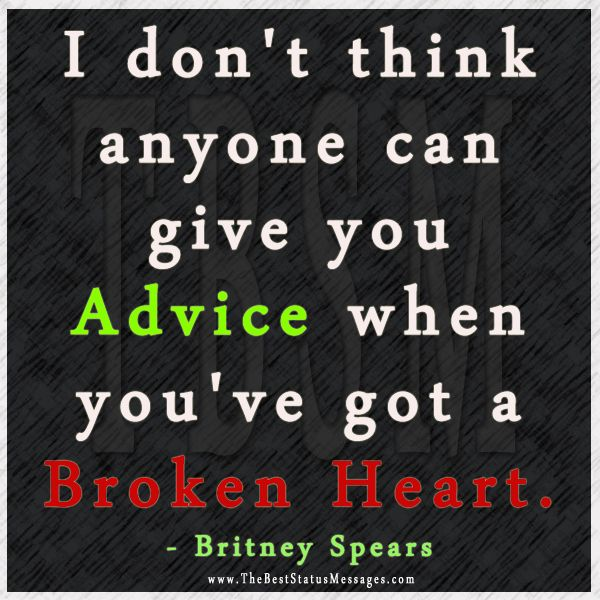 Great advice for a broken heart