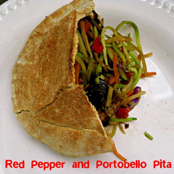 perry jayne handmade: Portobello & Red Pepper Pita- I love this for ...