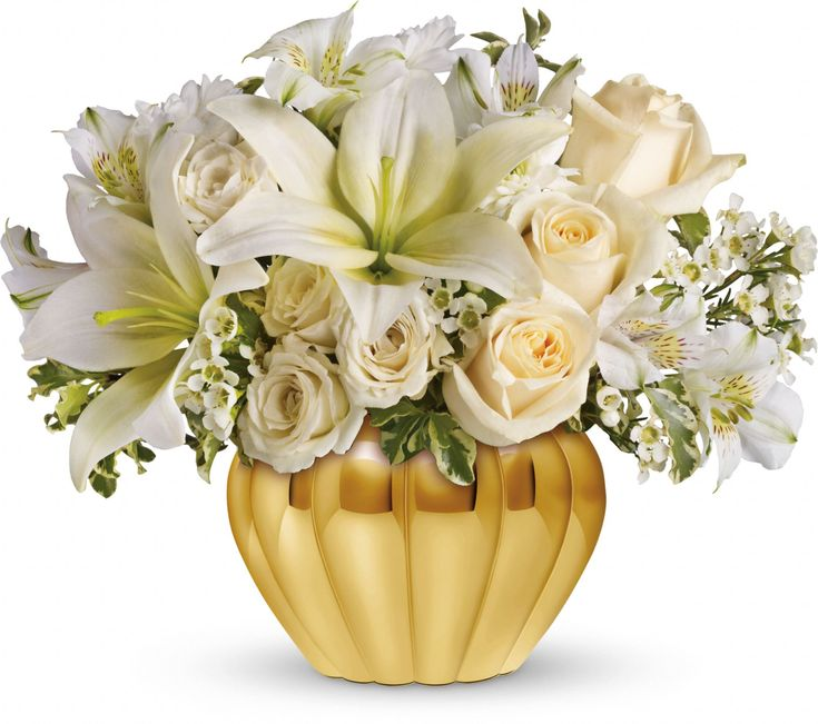 Teleflora 39 S Touch Of Gold For The In Laws 50th Wedding Anniversary