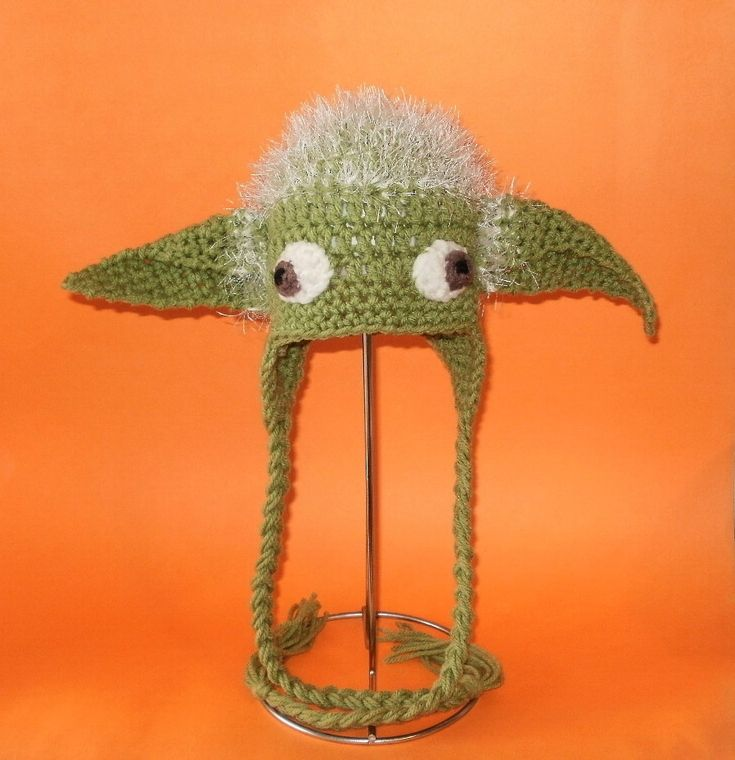 Crochet Yoda ( character from movie Star Wars )hat pdf pattern on etsy