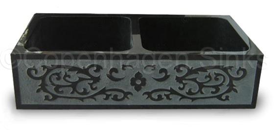 Black Apron Sink : Double Front Apron Kitchen sink (black) Dream house Pinterest