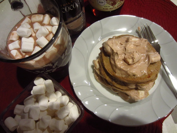... Cocoa and Marshmallow Pancakes w/ Coconut Milk Whipped Topping (GF/DF