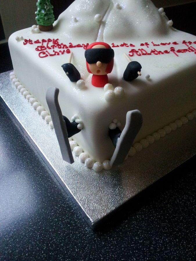 Ski cake Zoetigheid Pinterest