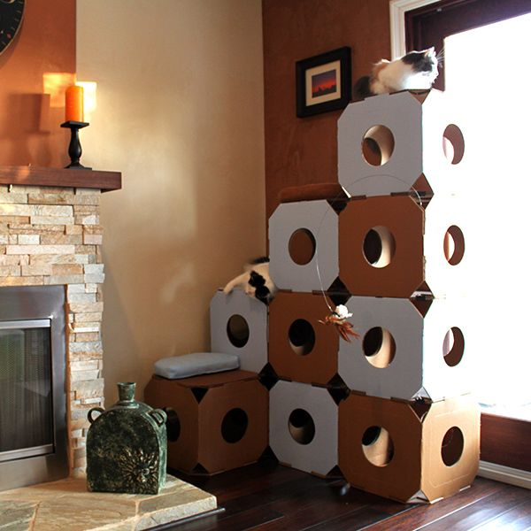 Catty Stacks Designer Cat Climbers | 2013 Gift Guide: Animal Lover | Organic Spa Magazine