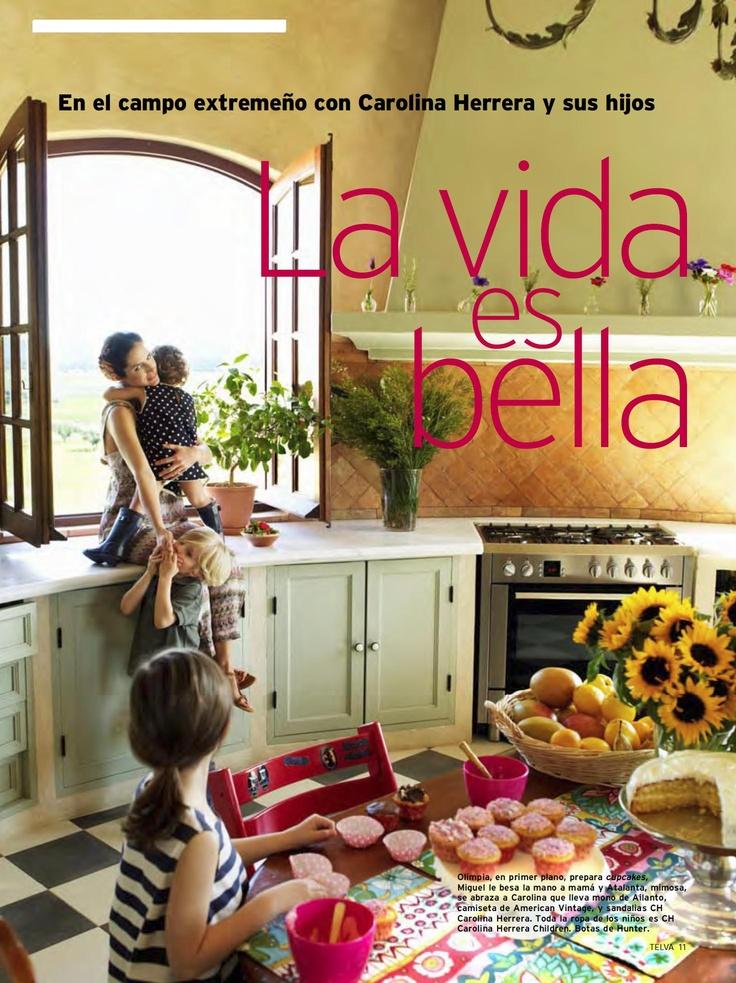 Cocina de la casa que tienen Carolina Herrera y El Litri en Extremadura
