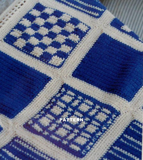 Crochet Pattern -Afghan Blanket - CAPE COD SAMPLER - Intermediate Ski ...