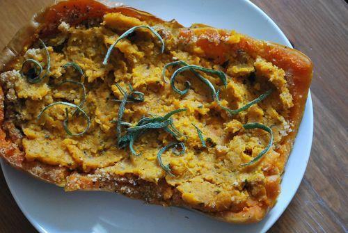 Twice Baked Butternut Squash Recipe | VEGETARIAN | Pinterest