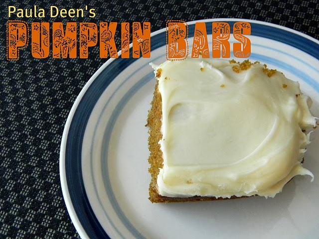 paula deen's pumpkin bars | Deliciocity: Cookies, Bars, & Bites | Pin...