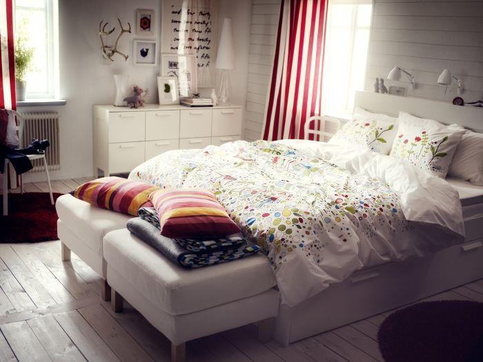 BRIMNES bed bedroom inspiration Pinterest