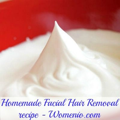 Facial hair removal: egg white, cornmeal, and sugar.