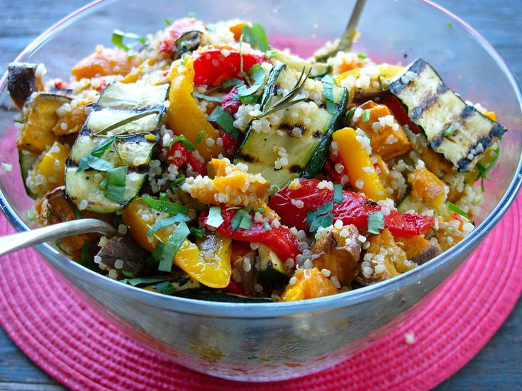 Roast Vegetable Quinoa Salad | Gluten Free Low Carb Health Recipe Ide ...