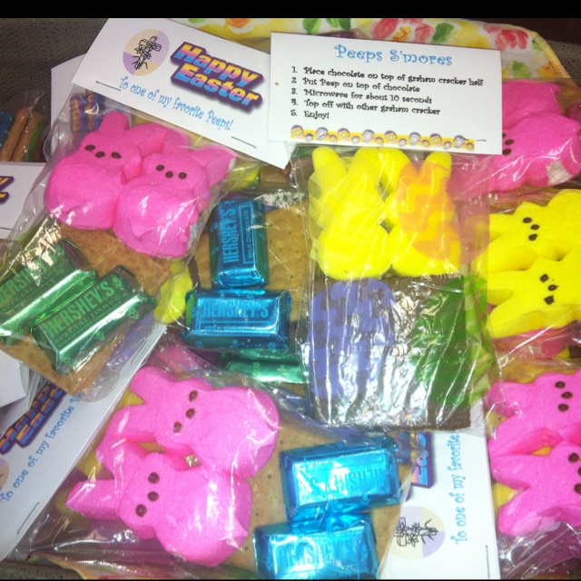 Peep S'mores (with a Cross) Easter | baby shower | Pinterest