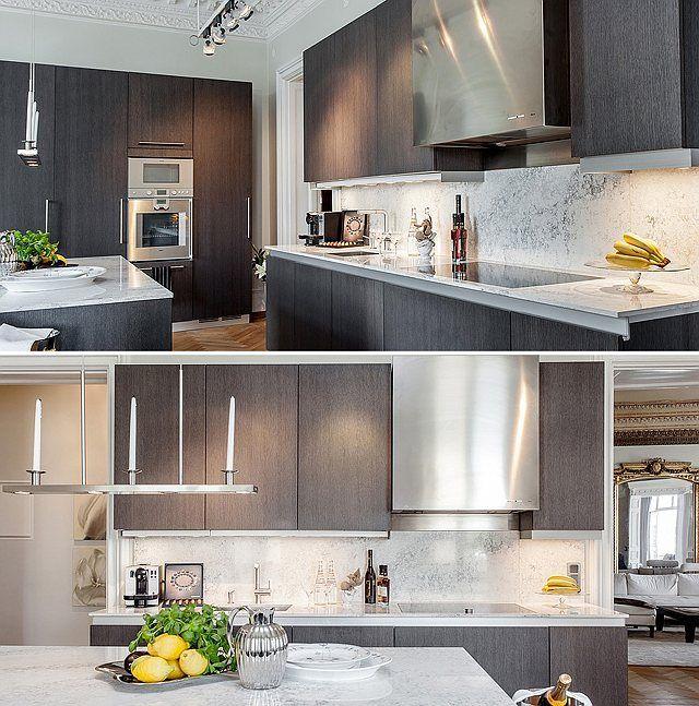 Slab Cabinets For Modern Kitchen Kitchen Ideas Pinterest