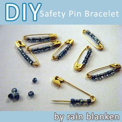 Safety pin bracelet safety pin crafts pinterest