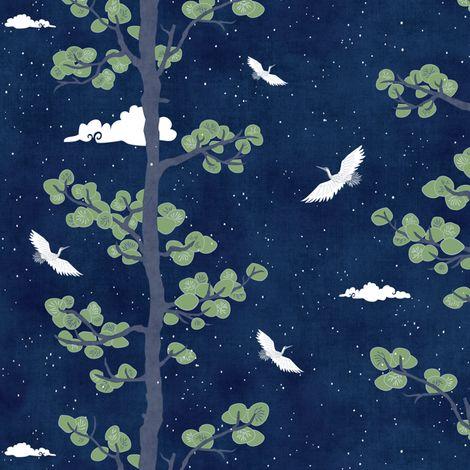 Pines & Cranes - Night $27