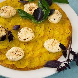Golden Beet Tart with Goat Cheese, Purple Basil & Poppy Seed ...