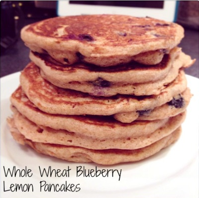 Whole Wheat Blueberry Lemon Pancakes-Simply Social Blog