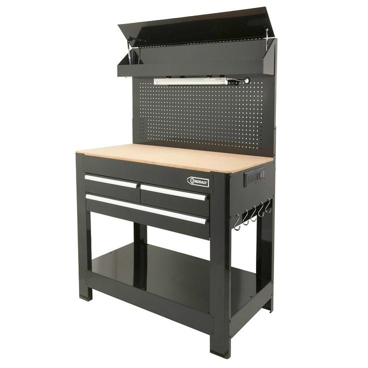 Kobalt Heavy Duty 3 Drawer Work Bench Garage Storage Pinterest