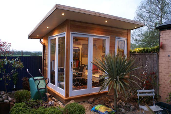 Outdoor office office pinterest for Garden office designs