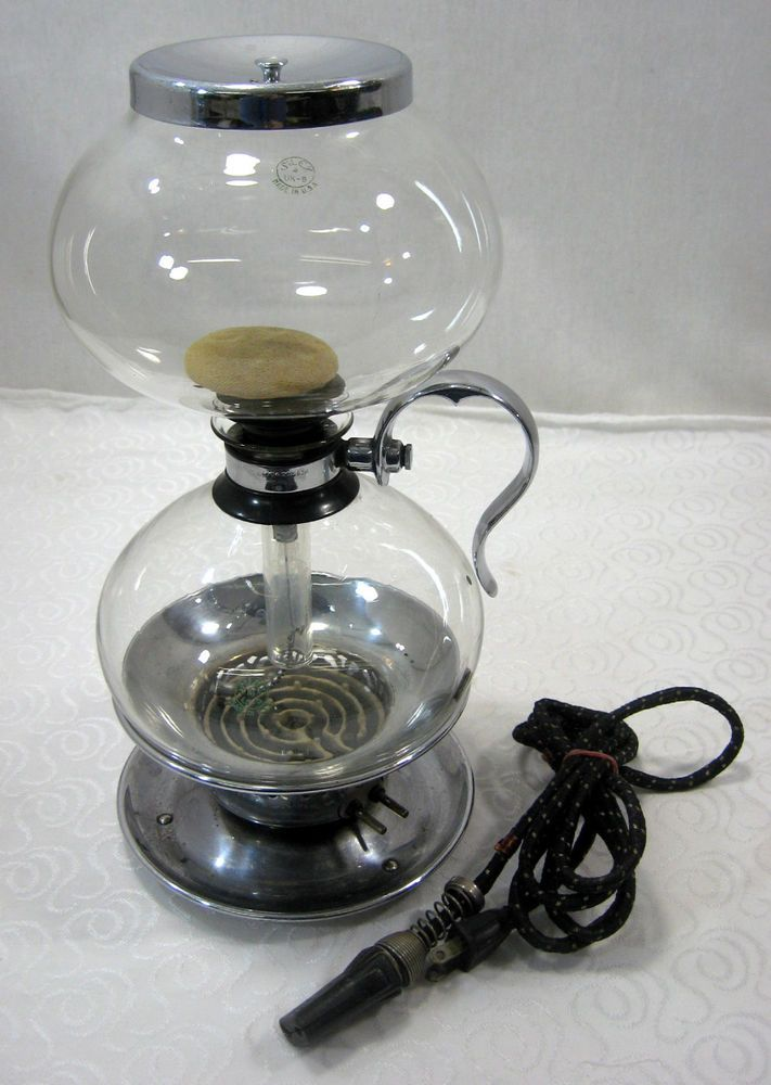 Vacuum Coffee Maker Glass Filter : Vintage Silex Glass Coffee Maker Pyrex Vacuum Pot w/Warmer Filter Wor?