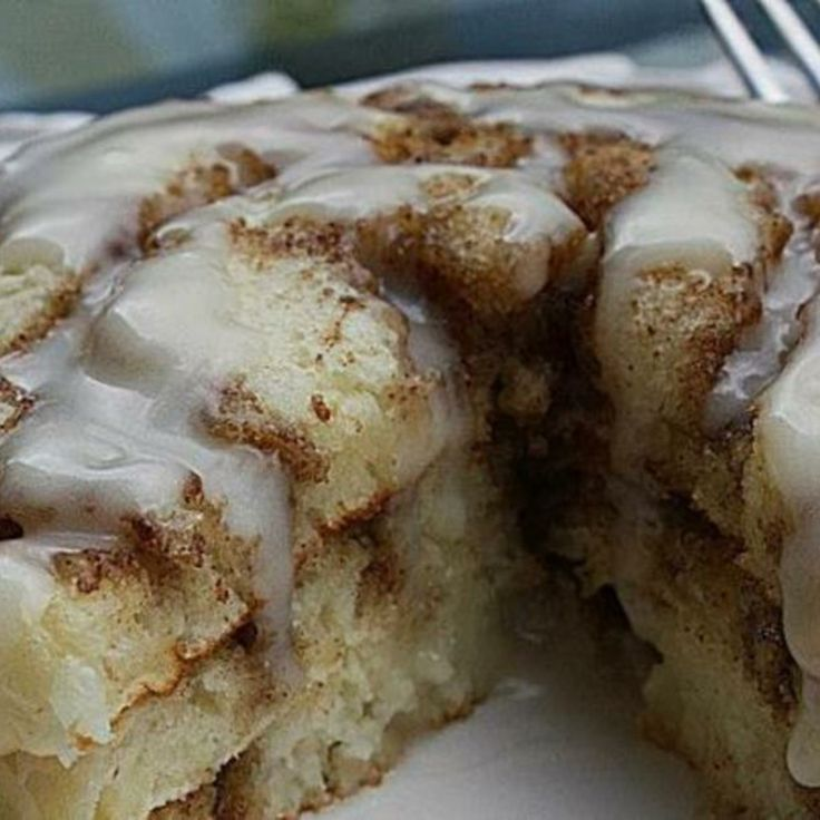 Cinnamon Roll Pancakes - very yummy and very rich. My family didn't ...
