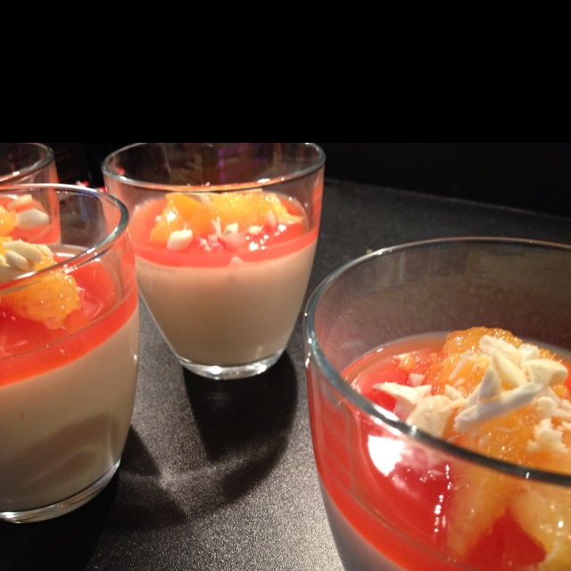Blood orange mousse and jelly | food | Pinterest